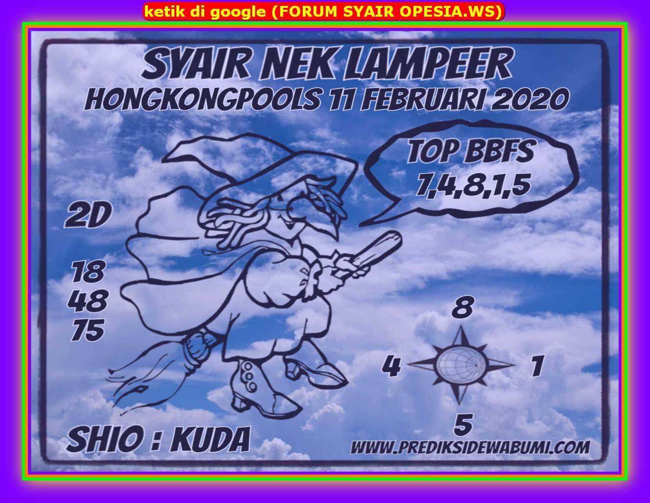 Kode syair Hongkong Selasa 11 Februari 2020 147
