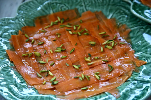 carrot carpaccio British Organic Carrot supper club pic: Kerstin Rodgers/msmarmitelover.com