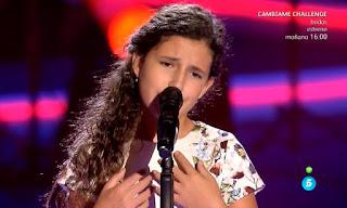 Esperanza canta Qué no daría yo de Rocío Jurado la voz kids