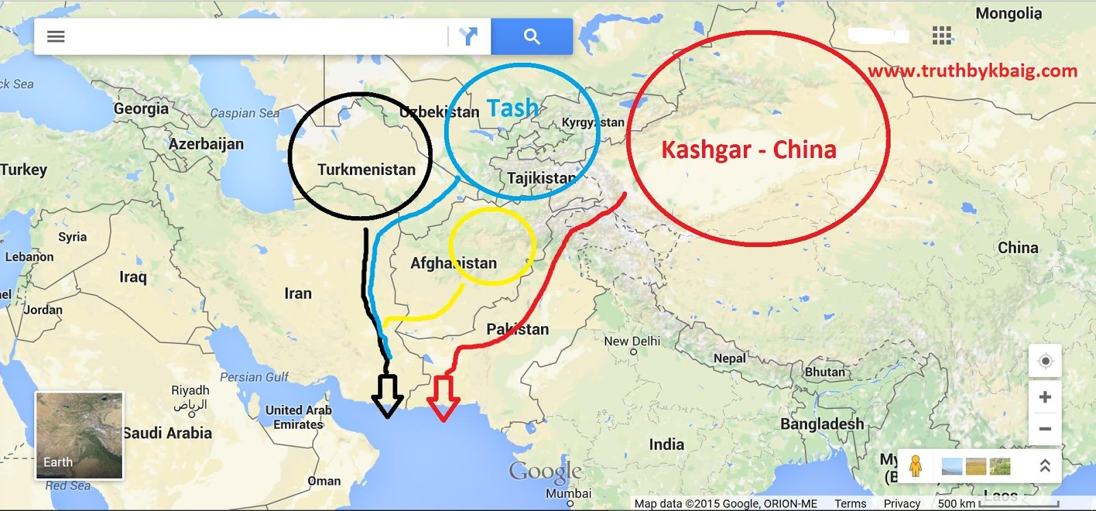 Truth by Kbaig The Problem is the 3Country Nexus Against – Map of Iran and India