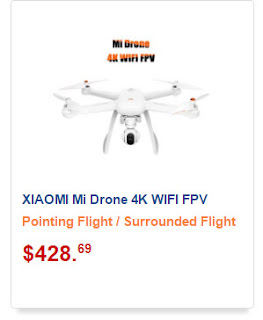 Drone da Xiaomi com câmera 4K 360 graus