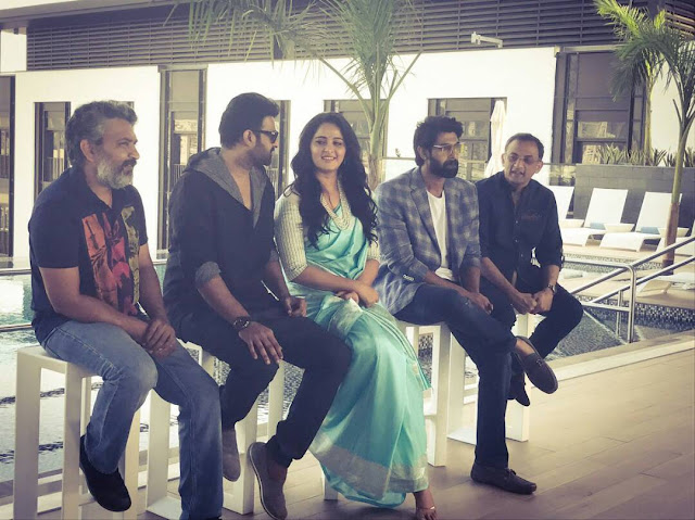Baahubali Team at Dubai for 'Baahubali 2' Promotions