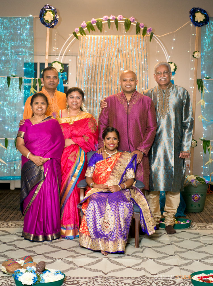 Indian Family Portraits at Baby Shower = SudeepStudio.com