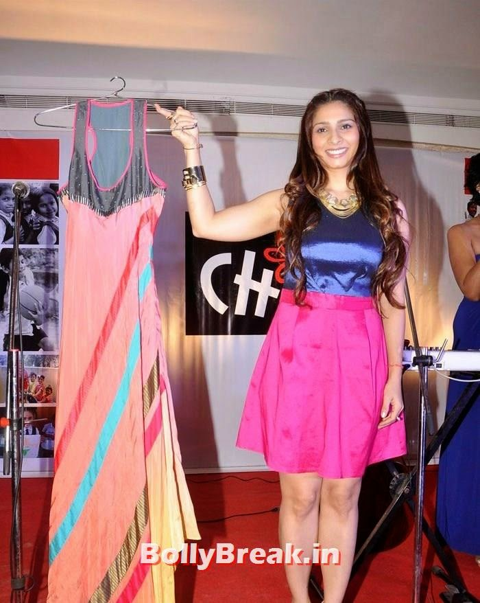 Tanisha Mukherjee, Tanisha Mukherjee Pics in Hot Dress at Charity Event