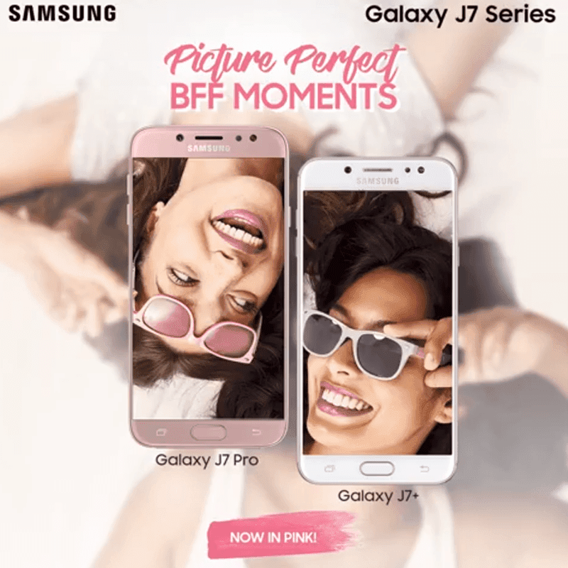 Samsung Galaxy J7 Pro and Galaxy J7+ Pink version now in PH!