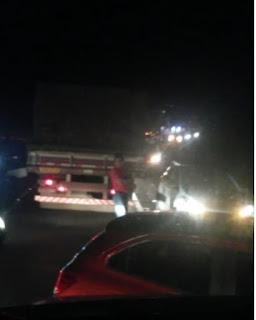 Vídeo do Arrastão na Serra do Azeite na BR-116 ontem a noite (29/05)