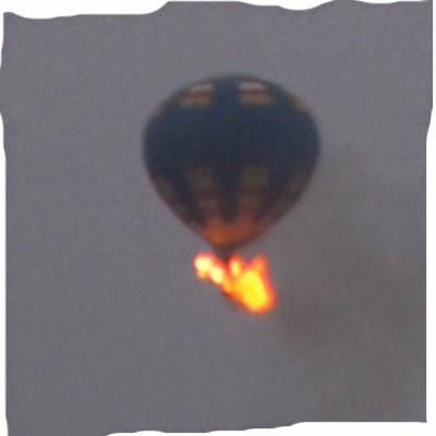 Choque de balon de aire caliente