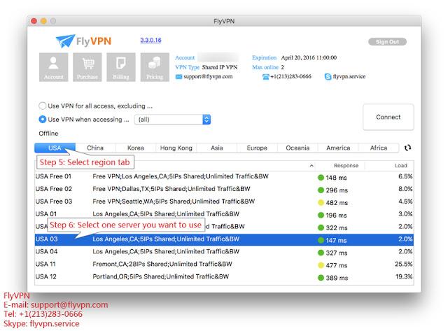 選擇VPN伺服器