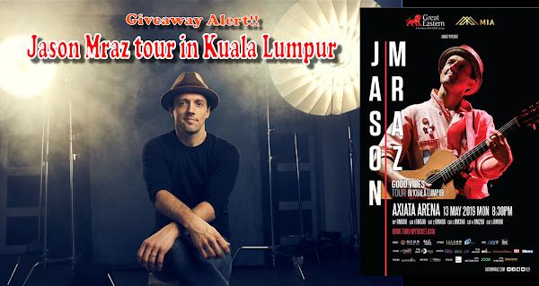 Jason Mraz Brings Good Vibes to Kuala Lumpur in May 2019