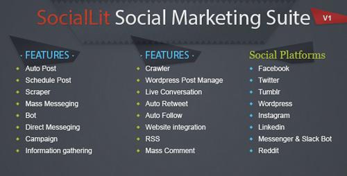 SocialLit Social Marketing Suite - Info