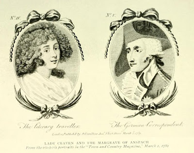 Lady Craven and the Margrave of Anspach  from The Beautiful Lady Craven, Lady Craven's   memoirs edited by AM Broadley and L Melville (1914)