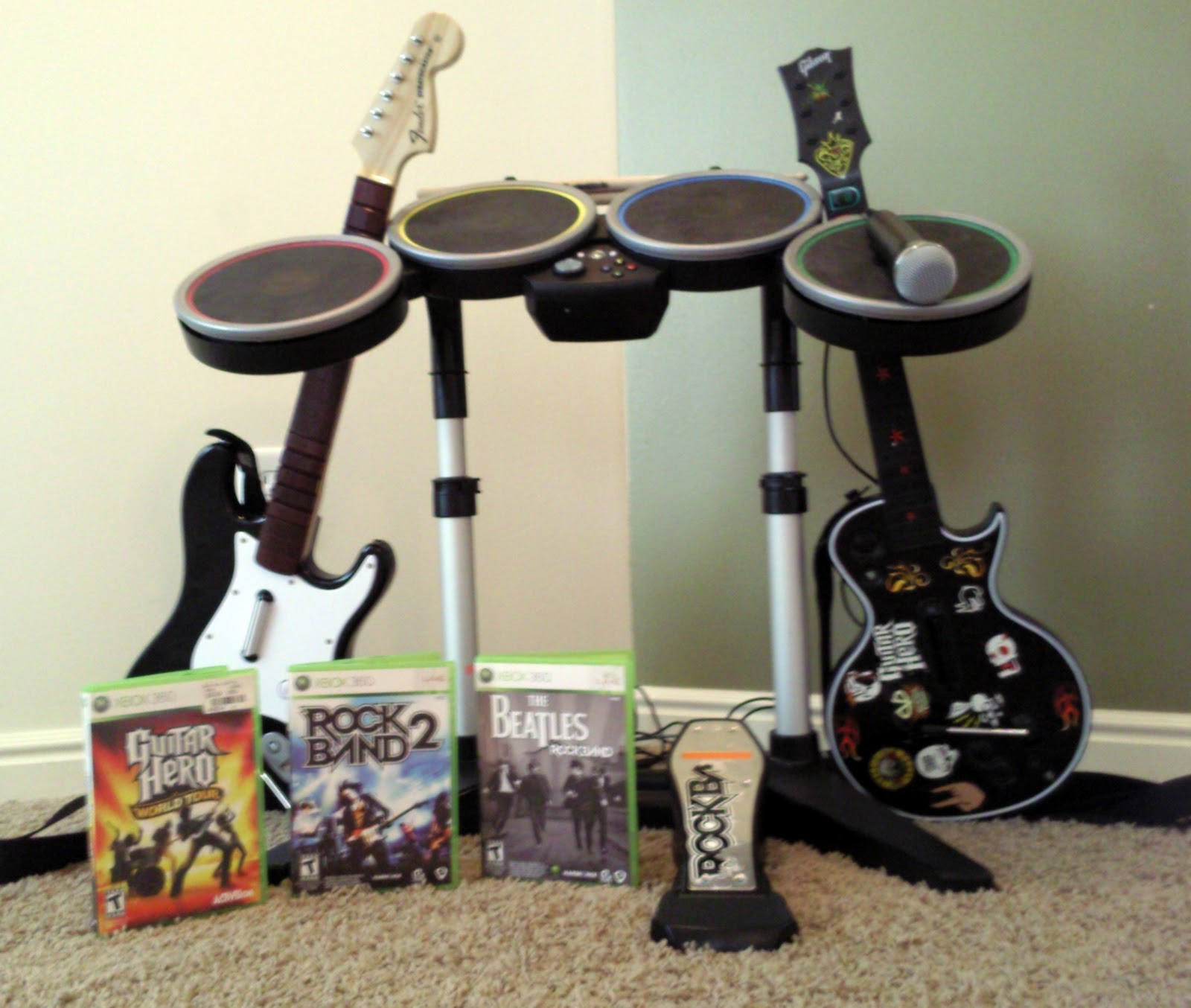 Nonsense For Sale: *SOLD* Xbox 360 Rock Band Drum Kit ...