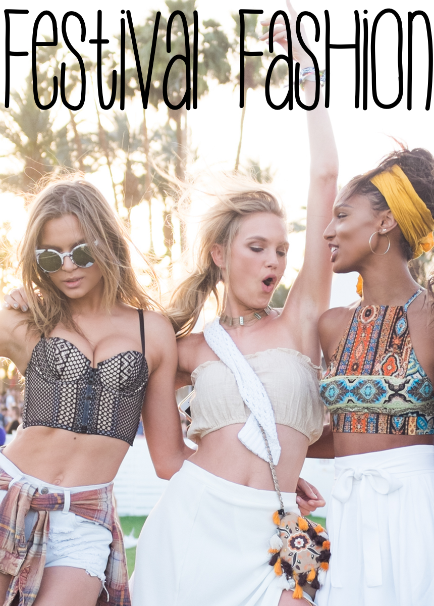 Josephine Skriver, Romee Strijd, and Jasmine Tookes attend 2016 Coachella