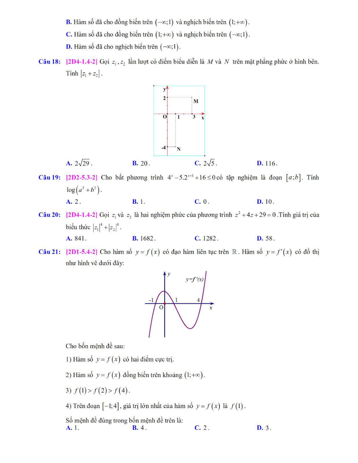 đề trắc nghiệm môn toán lần 5 nhóm STRONG TEAM TOÁN VD - VDC trang 3