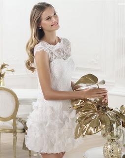 pronovias 2014 abito da sposa corto Lagatte