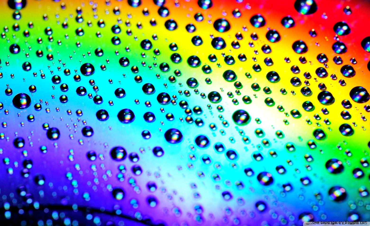 Rainbow Raindrop Wallpaper