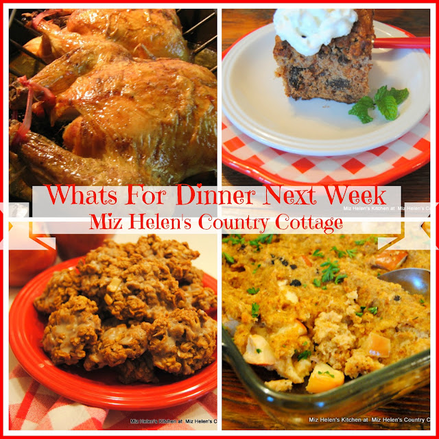 Whats For Dinner Next Week 10-1-17 at Miz Helen's Country Cottage