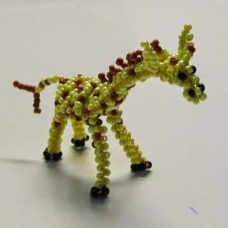 Жираф из бисера. Схема