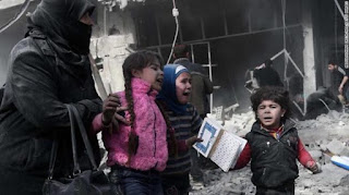 Hujan Bom di Ghouta Timur oleh Rezim Syiah Suriah, Korban Sudah Lebih 500 Orang