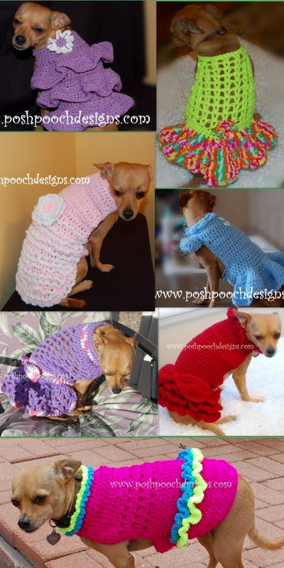Posh Pooch Designs Dog Clothes Dog Sweater Crochet Patterns For