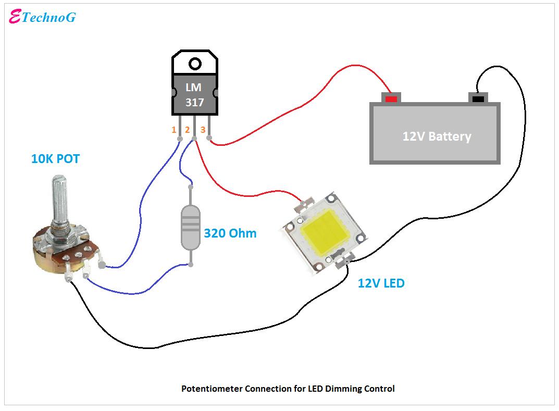 Proper] Potentiometer Connection and Circuit Diagram - ETechnoG   Potentiometer Wiring Diagram Fan      ETechnoG