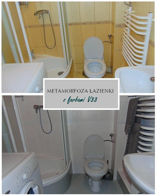 metamorfoza łazienki z farbami V33