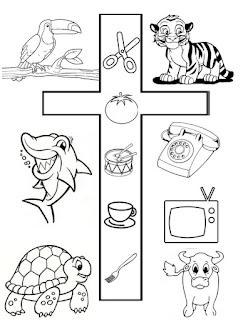 Letra T Y Dibujos
