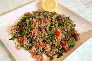 photograph of tabbouleh salad made by blogger Lauren Seip