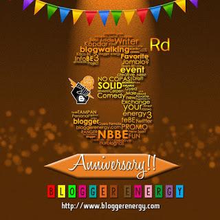 Happy Birthday Blogger Energy yang ke-3!
