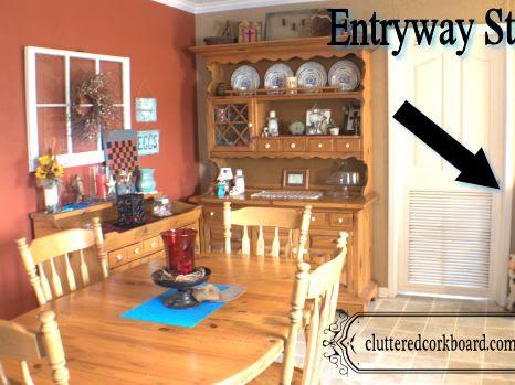 Entryway Storage Makeover