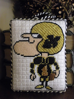 NOLA Sir Saint needlepoint