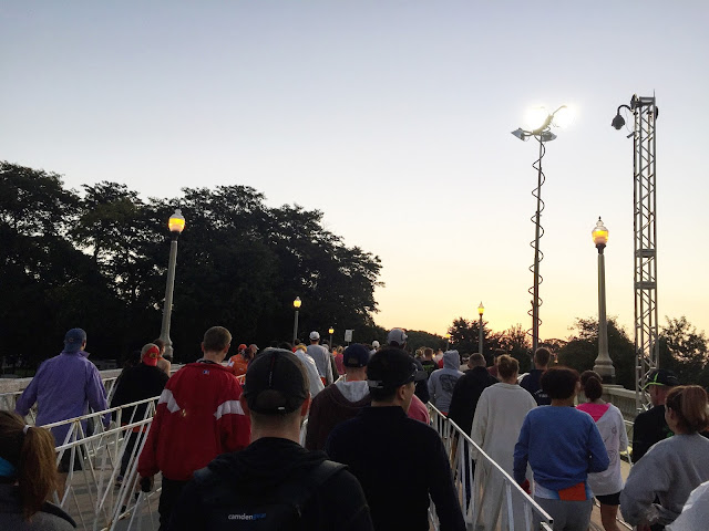 Chicago Marathon race morning