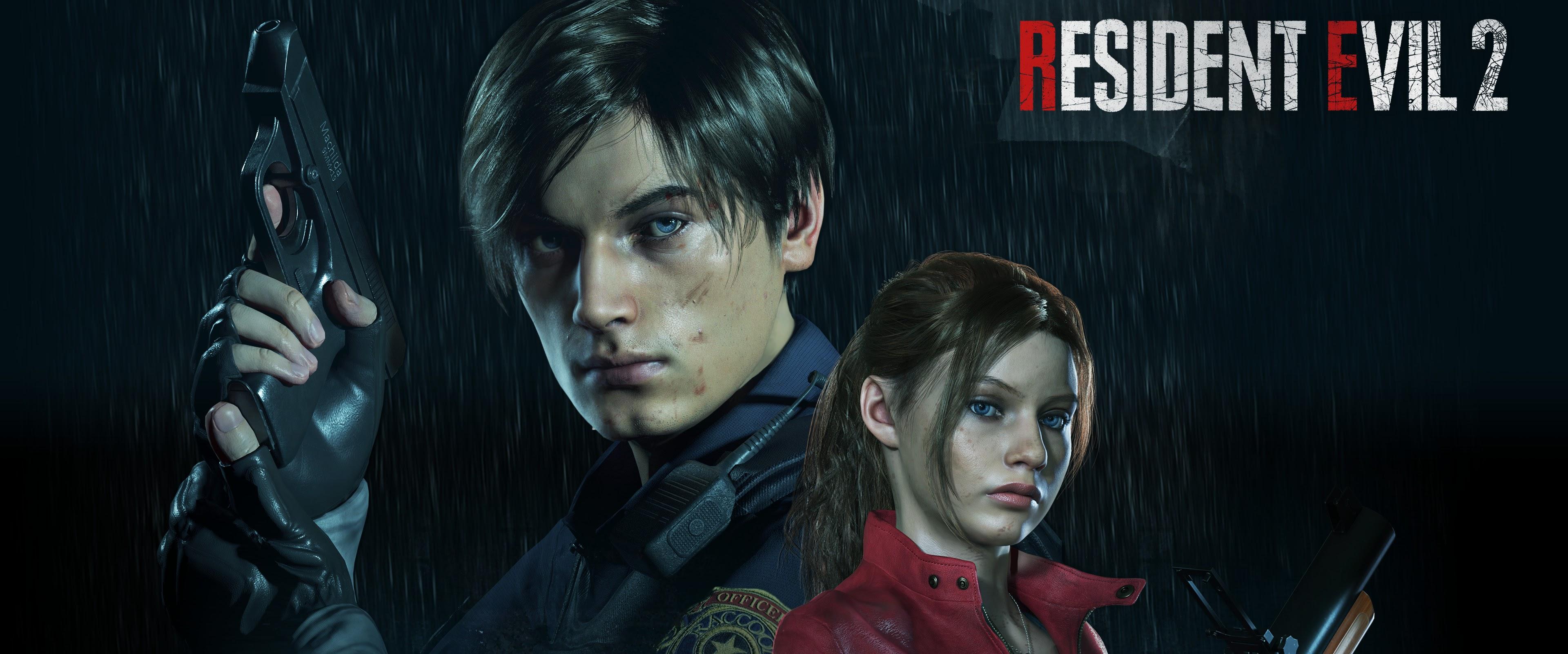 Leon S  Kennedy Claire Redfield Resident Evil 2 4K Wallpaper #2