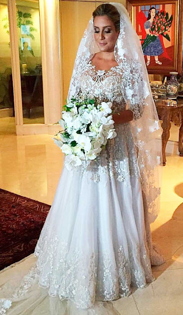 Carol Buffara, vestido de noiva Sandro Barros