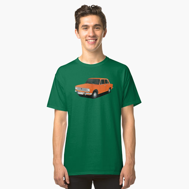 vaz-2101 Lada 1200 orange t-shirts
