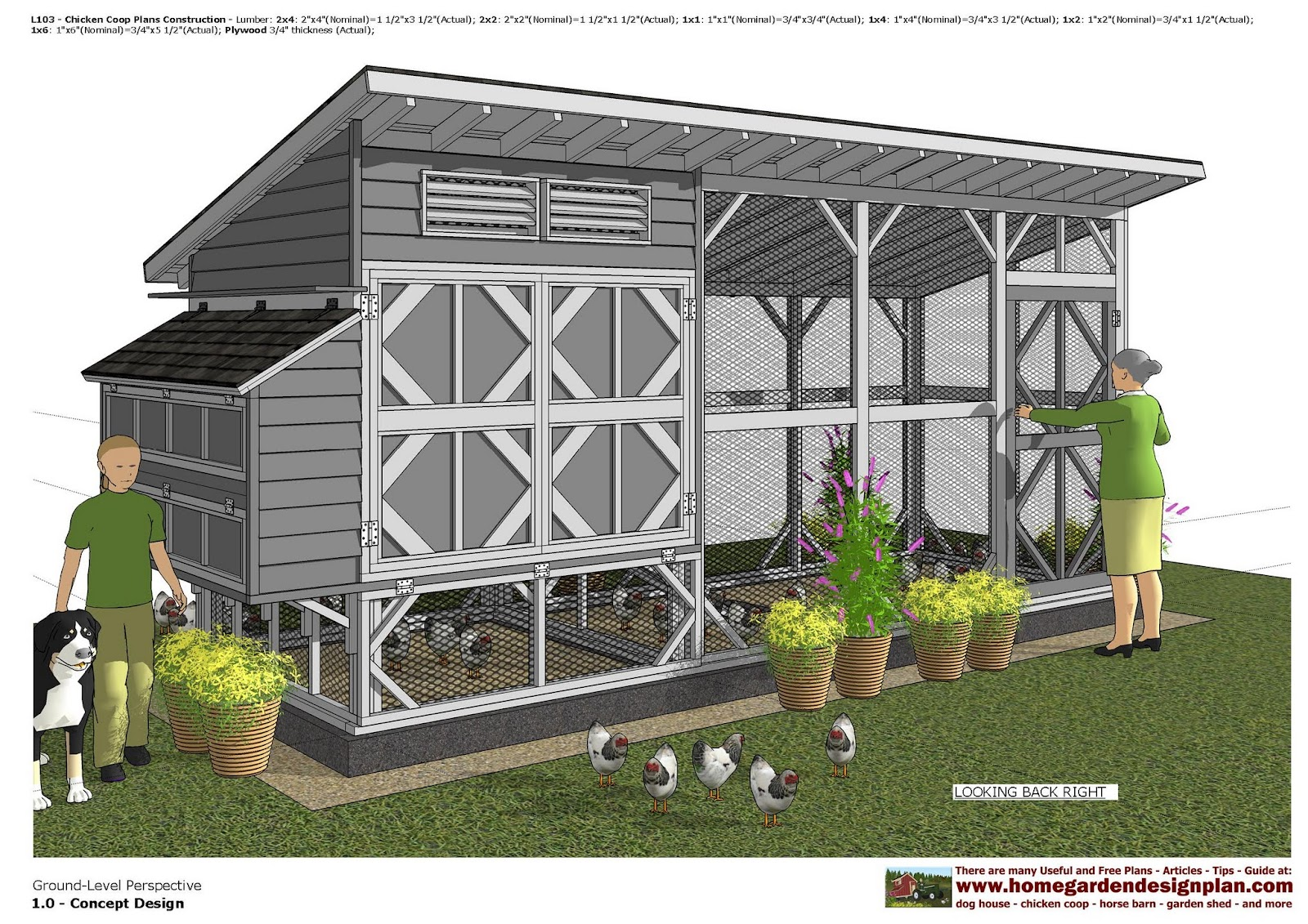 home garden plans: L103 - Chicken Coop Plans - Chicken ...