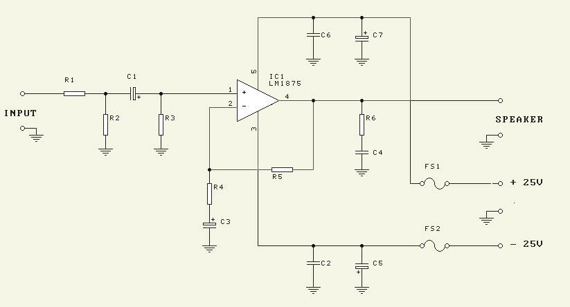 25w Hifi Audio Amplifier Lm1875 Circuitschematic - Board