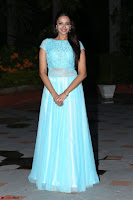 Pujita Ponnada in transparent sky blue dress at Darshakudu pre release ~  Exclusive Celebrities Galleries 119.JPG