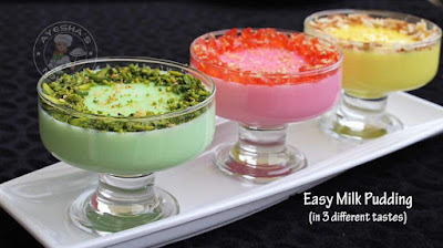 Ayeshas easy pudding recipe which is simple and less ingredient dessert recipes all can try 3 ingredients only milk pudding essence
