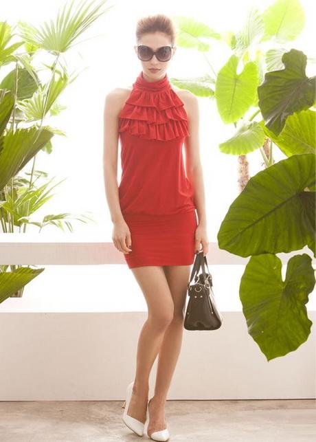 vestido juvenil rojo
