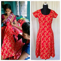Trusted Clothes, Holi Boli Fashionz, Red n Gold Paisley, Dress, Holi Boli, Empower Women