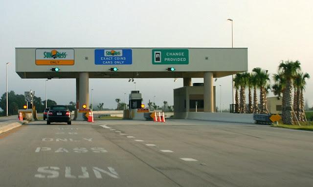 Pedágios nas estradas da Flórida