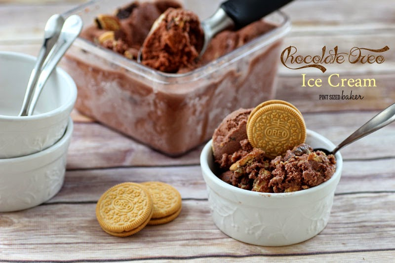 Chocolate Oreo Ice Cream with #IceCreamforOXO