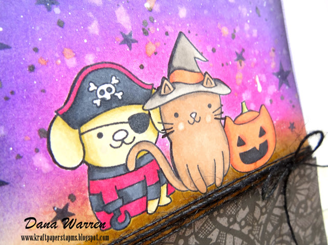 Dana Warren - Kraft Paper Stamps - Pretty Pink Posh - Halloween