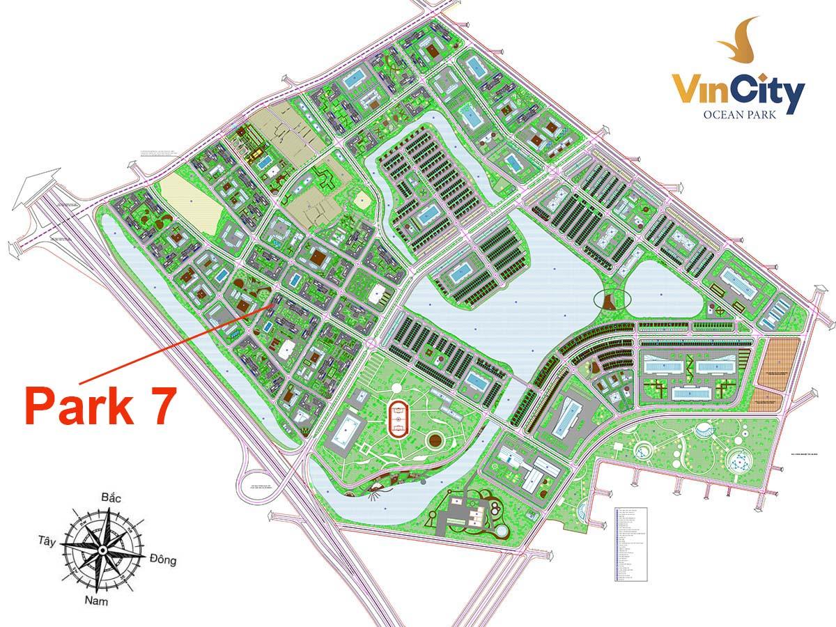 Vị trí Tòa P7 VinCity Ocean Park Gia Lâm