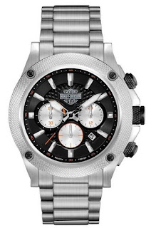 Harley Davidson Men's Bulova Stainless Steel Bracelet Chronograph Watch 78B126