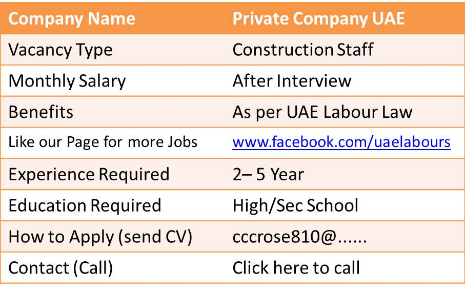 construction jobs in uae