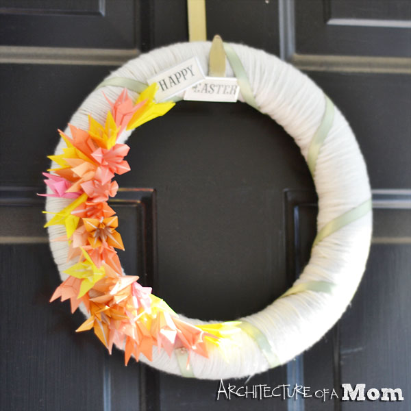 Origami Lily Easter Wreath
