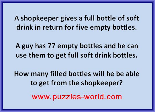 Soft Drink Bottle Puzzle