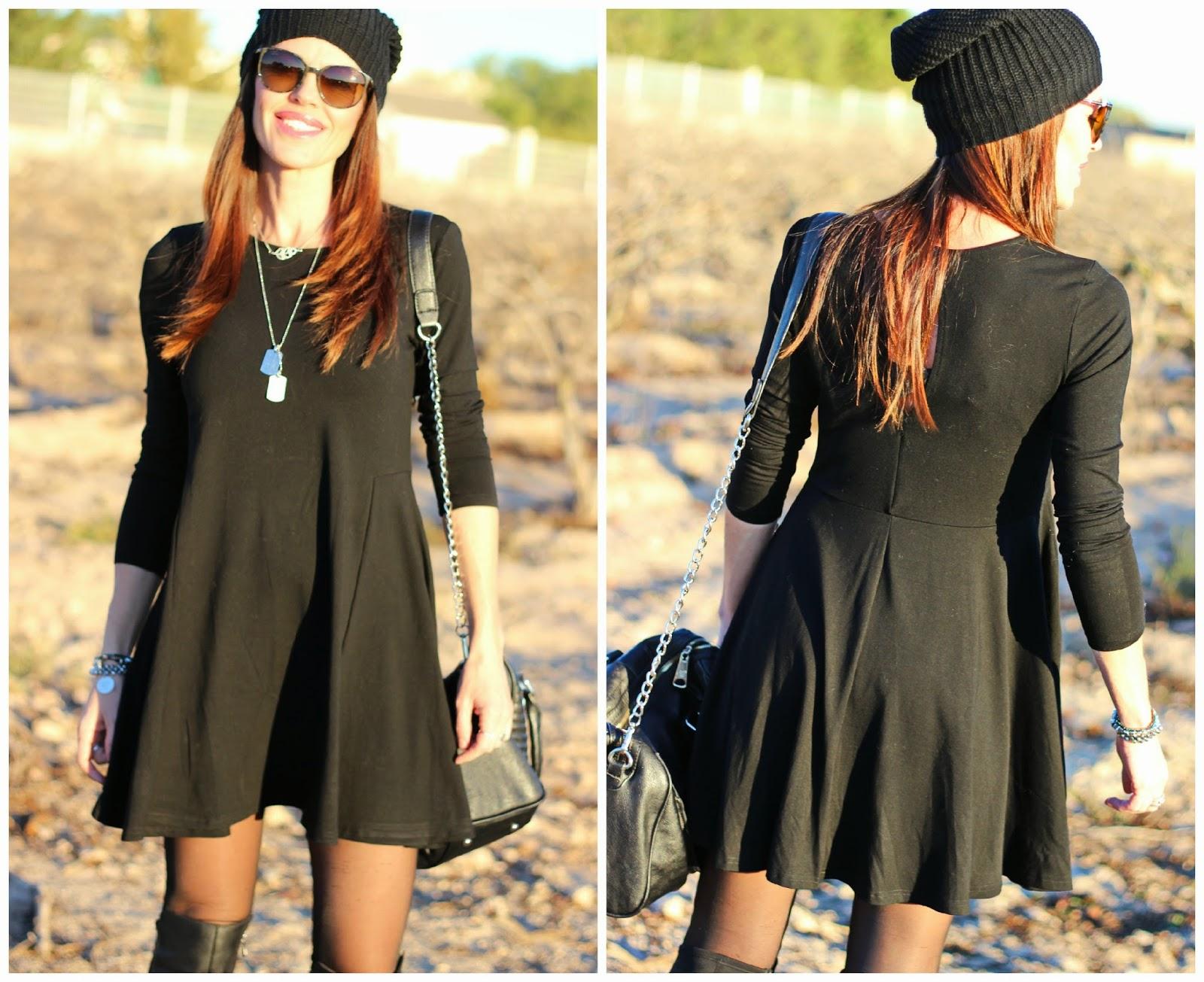 Con Largas Vestido Botas Negro Outfit Ulk3jtf1c